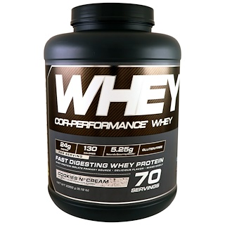 Cellucor, Cor-Performance Whey, Cookies N' Cream, 5.19 lb (2352 g)