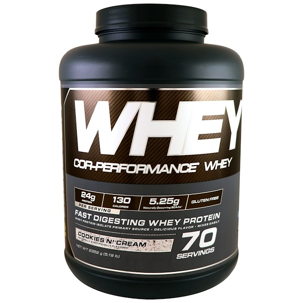 :Cellucor, Cor-Performance Whey, Cookies N Cream, 5、19 lbs (2352 g)
