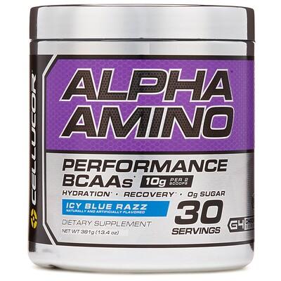 Фото - Alpha Amino, BCAA для улучшения результатов, льдисто-голубая вспышка, 381 г (13,4 унции) pro series neurocore pre workout замороженная голубая малина 229г 8 08унции