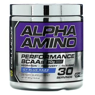 Cellucor, Alpha Amino, Performance BCAAs, Icy Blue Razz, 13.4 oz (381 g)