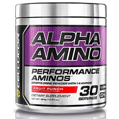 Cellucor, Alpha Amino, Performance BCAAs, Fruit Punch, 13.4 oz (381 g)