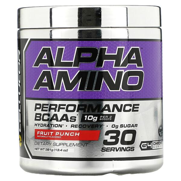 Alpha Amino, Performance BCAAs, Fruit Punch, 13.4 oz (381 g)
