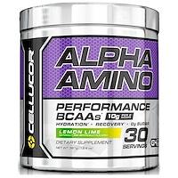 Alpha Amino. Активность аминокислот с разветвленной цепью, лимон-лайм, 13.4 унций (381 г) - фото
