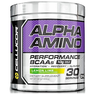 Cellucor, Alpha Amino. Performance BCAAs, Lemon Lime, 13.4 oz (381 g)