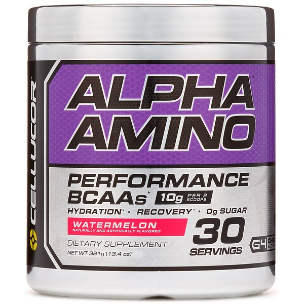 Alpha Amino, Performance BCAAs, Watermelon, 13.4 oz (381 g)