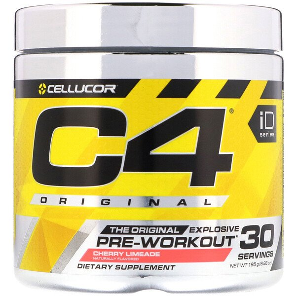 Cellucor, C4 Original Explosive, Preentrenamiento, Cereza Lima, 6.3 oz (180 g)