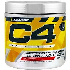 Cellucor, C4 Original Explosive, Pre-Workout, Fruit Punch, 6.3 oz (180 g)