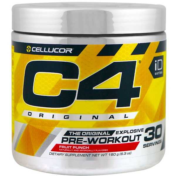 Cellucor, C4 Original Explosive, Pre-Workout, Fruit Punch, 6.3 oz (180 g)