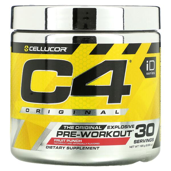 C4 Original Explosive, Pre-Workout, Fruit Punch, 6.88 oz (195 g)