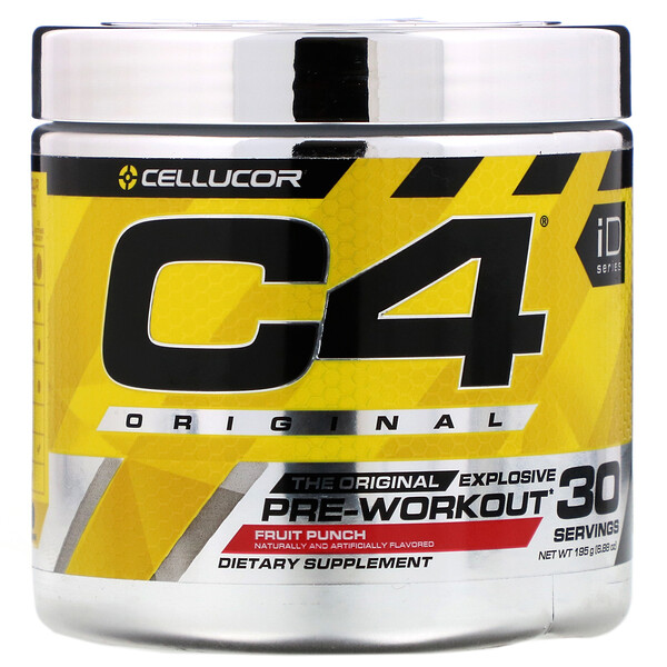 C4 Original Explosive, Pre-Workout, Fruit Punch, 6.88 oz (195 g)