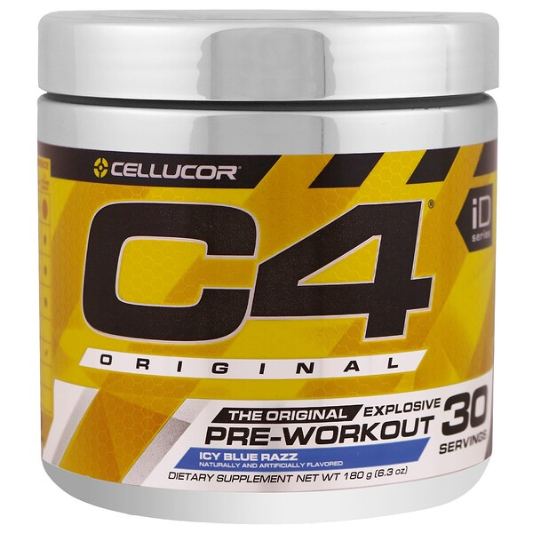 Cellucor, C4 Original Explosive, Pre-Workout, Icy Blue Razz, 6.3 oz (180 g)