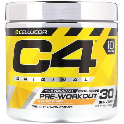 Купить Cellucor C4 Original, средство для улучшения работоспособности перед тренировкой, вкус апельсина, 195г (6, 88унций)