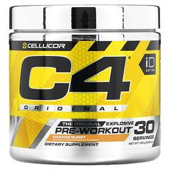 Cellucor, C4 Original Explosive,鍛鍊前,柳丁爆炸,6.88 盎司(195 克)