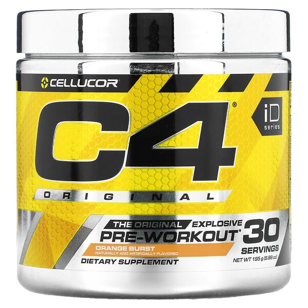 Cellucor, C4 Original Explosive، قبل التمرين، بطعم البرتقال، 6.88 أونصة (195 جم)