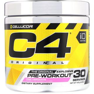 Cellucor, C4 Original, предтренировочный комплекс, розовый лимонад, 6,88 унц. (195 г)