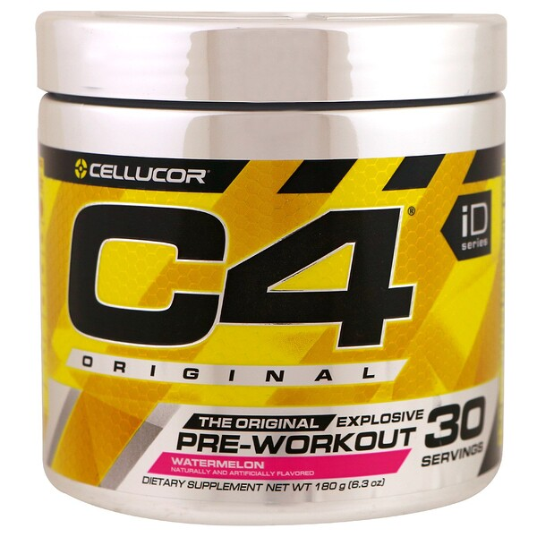 Cellucor, C4 Original Explosive,鍛煉前,西瓜,6.3盎司(180克)