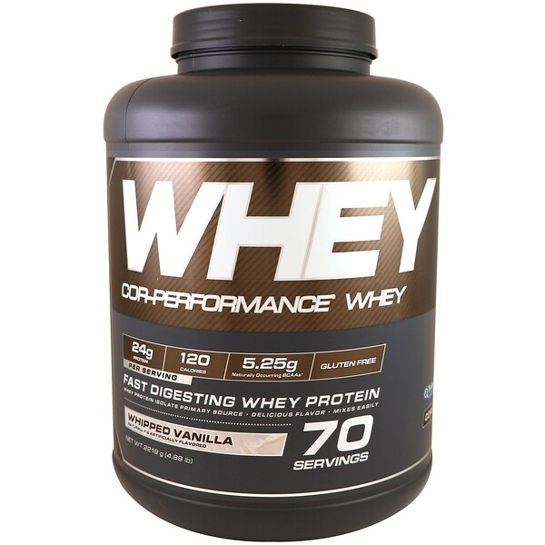 Cellucor, Cor-Performance Whey, Whipped Vanilla, 4、89 lbs (2219 g)