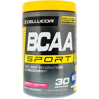 Купить Cellucor BCAA Sport, Увлажнение и восстановление целый день, Вишневый лаймад, 11, 6 унц. (330 г)