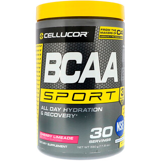 Cellucor, BCAA Sport, All Day Hydration & Recovery, Cherry Limeade, 11.6 oz (330 g)