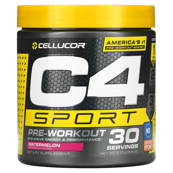 C4 Sport، لما قبل التمارين الرياضية، بطيخ، 9.5 أونصة (270 جم)