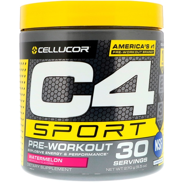 C4 Sport, Pre-Workout, Watermelon, 9.5 oz (270 g)