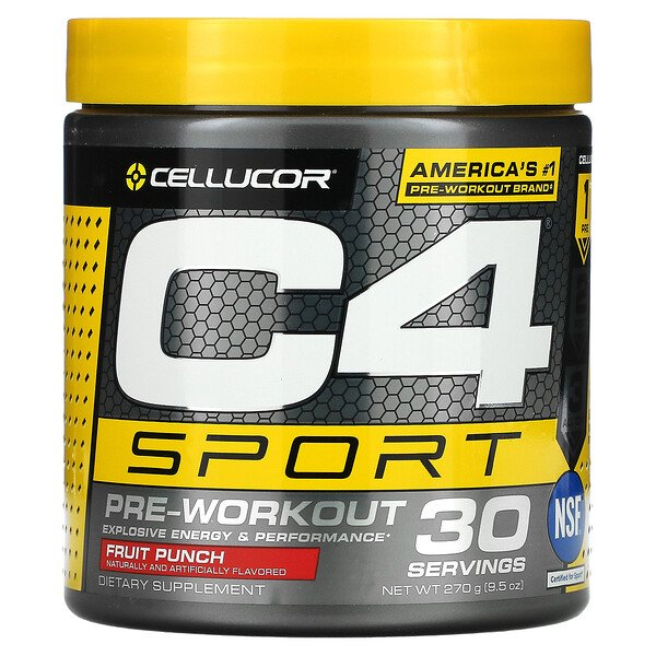 C4 Sport, Pre-Workout, Fruit Punch, 9.5 oz (270 g)
