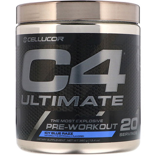 Cellucor, C4 Ultimate, Pre-Workout, Icy Blue Razz, 13.4 oz (380 g)