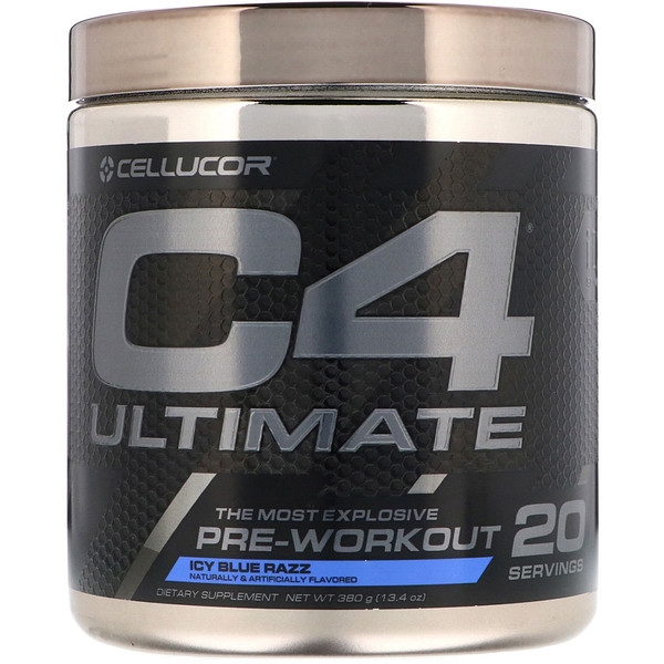 Cellucor, C4 Ultimate, Pre-Workout, Icy Blue Razz, 13.4 oz (380 g) (Discontinued Item)