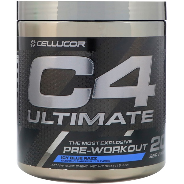 Cellucor, C4 Ultimate, Pre-workout, Icy Blue Razz, 13、4 oz (380 g) (Discontinued Item)