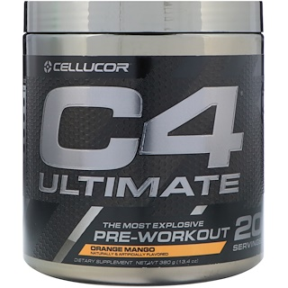 Cellucor, C4 Ultimate, preentrenamiento, naranja y mango, 13.4 oz (380 g)