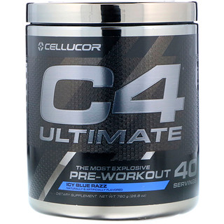 Cellucor, C4アルティメット、プレワークアウト、アイシーブルーラズ、26.8オンス (760 g)