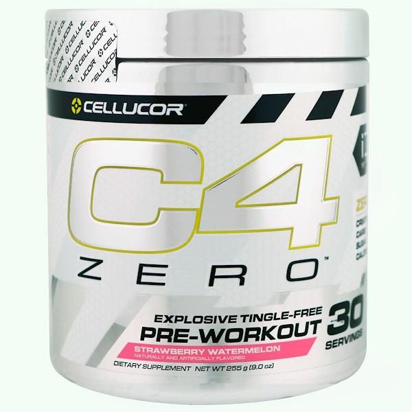 Cellucor, C4ゼロ、プレワークアウト、ストロベリーウォーターメロン、9.0オンス (255 g) (Discontinued Item)