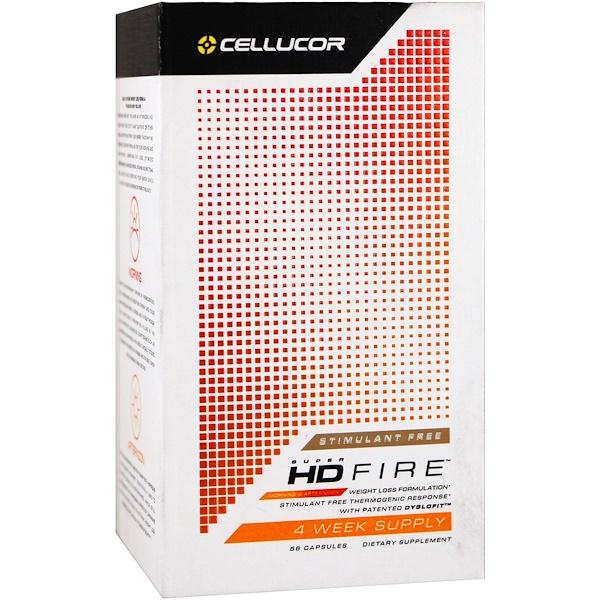 Cellucor, Super HD Fire,不含興奮劑,56粒膠囊