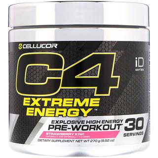 Cellucor, C4エクストリームエナジー、プレワークアウト、ストロベリーキウイ、9.52 oz (270 g)
