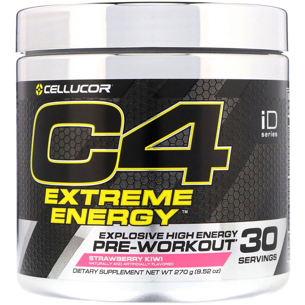 Cellucor, C4 Extreme Energy, Pre-Workout, Strawberry Kiwi, 9.52 oz (270 g) (Discontinued Item)
