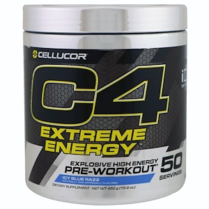 Селлюкор, C4 Extreme Energy, Pre-Workout, Icy Blue Razz, 15.9 oz (450 g) отзывы покупателей