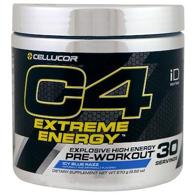 C4 Original для взрывной тренировки, перед тренировкой, голубой лед, 9,52 унции (270 г)