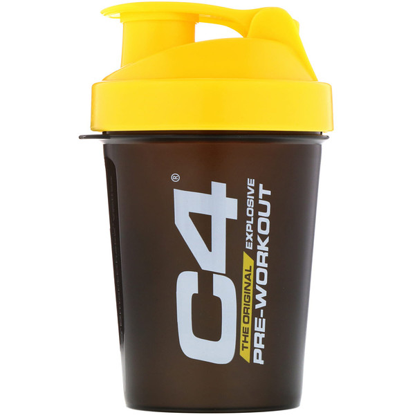 Cellucor, C4, vaso mezclador SmartShake, negro/amarillo, 20 oz (600 ml)