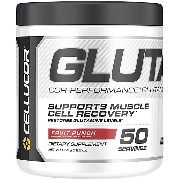 Cellucor, Глутамин Cor-Performance, фруктовый удар, 12,3 унции (350 г) (Discontinued Item)