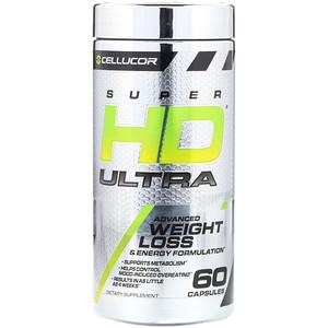 Селлюкор, Super HD Ultra, Advanced Weight Loss & Energy Formulation, 60 Capsules отзывы