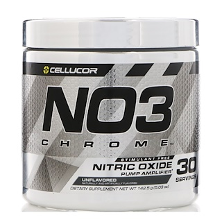 Cellucor, NO3 Chrome, Nitric Oxide Pump Amplifier, Unflavored, 5.03 oz (142.5 g)