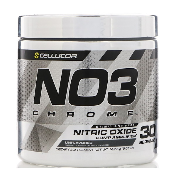 Cellucor, NO3 Chrome, Nitric Oxide Pump Amplifier, Unflavored, 5.03 oz (142.5 g) (Discontinued Item)