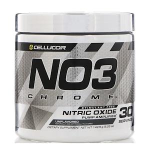 Селлюкор, NO3 Chrome, Nitric Oxide Pump Amplifier, Unflavored, 5.03 oz (142.5 g) отзывы