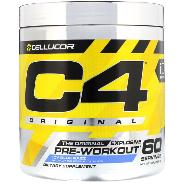 C4 Original Explosive, Pre-Workout, Icy Blue Razz, 13.8 oz (390 g)
