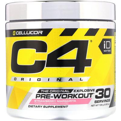 Купить Cellucor C4 Original Explosive, предтренировочный комплекс, клубника Margarita, 6, 88 унц. (195 г)