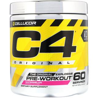 Cellucor, C4オリジナル・エクスプローシブ、プレワークアウト、ウォーターメロン、13.8オンス (390g)