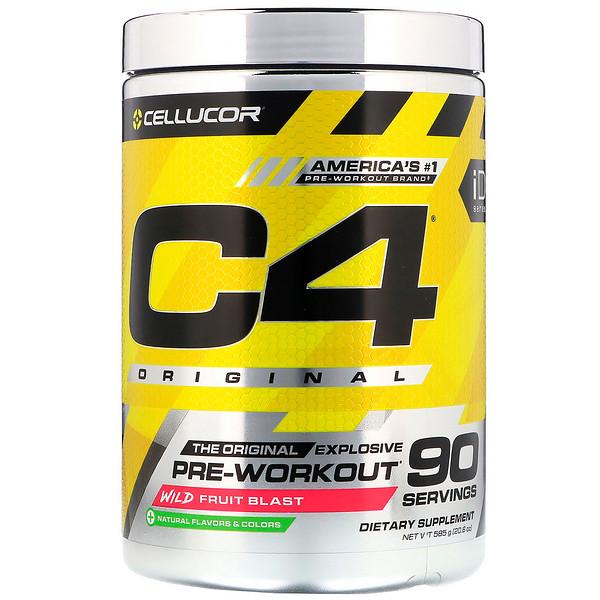 Cellucor, C4 Original Explosive, Pre-Workout, Wild Fruit Blast, 20.6 oz (585 g) (Discontinued Item)