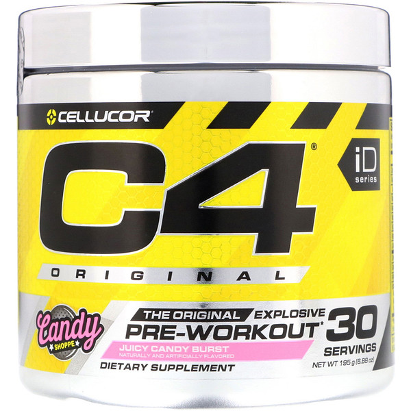 Cellucor, C4 Original Explosive, Pre-Workout, Juicy Candy Burst, 6.88 oz (195 g) (Discontinued Item)
