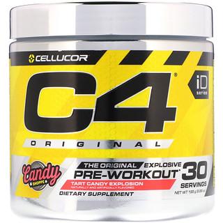 Cellucor, C4 Original Explosive, Pre-Workout, Tart Candy Explosion, 6.88 oz (195 g)