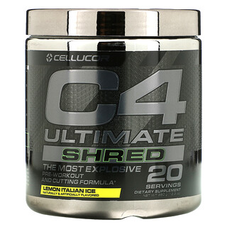 Cellucor, C4 Ultimate Shred, Pre-Workout and Cutting Formula, Lemon Italian Ice, 12.3 oz (350 g)